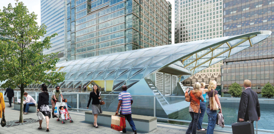 10 Upper Bank Street Canary Wharf Crossrail Station